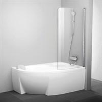 Шторка на ванну Ravak Rosa CVSK1 160/170 R Transparent, профиль белый