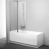 Шторка для ванны Ravak CVS2-100 L (белый + транспарент) 7QLA0100Z1