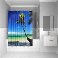 Штора для ванной комнаты 180*200 см полиэстер Maldivian IDDIS 630P18Ri11