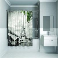 Штора для ванной комнаты 180*200 см полиэстер Paris days Grey IDDIS 541P18Ri11