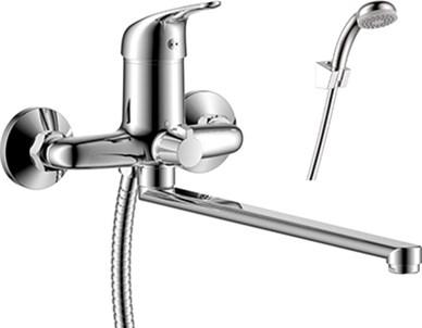 Смеситель для ванны и душа Rossinka Silvermix Y40-32 однорычажный с лейкой и шлангом, хром - фото 157699