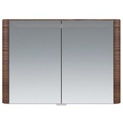 Зеркальный шкаф Am.Pm Sensation M30MCX1001NF орех текстурированный, с подсветкой (M30MCX1001NF) - фото 200797