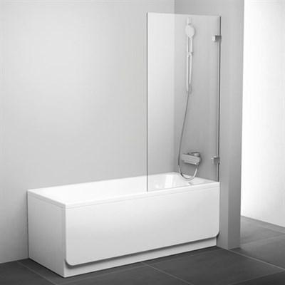 Шторка для ванны Ravak BVS1 80 7U840A00Z1 (хром + транспарент) - фото 214571