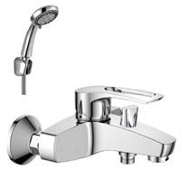 Смеситель для ванны и душа Rossinka Silvermix T40-31 однорычажный, с лейкой и шлангом, хром