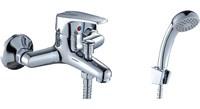 Смеситель для ванны и душа Rossinka Silvermix D40-31 однорычажный с лейкой и шлангом, хром