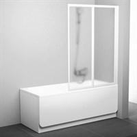Шторка для ванны Ravak VS2 105 белая+грейп (796M0100ZG)