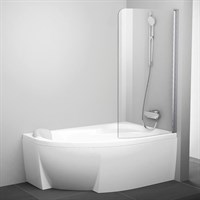 Шторка на ванну Ravak Rosa CVSK1 140/150 R Transparent профиль блестящий