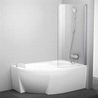 Шторка для ванны Ravak CVSK1 Rosa 140/150 P блестящая+транспарент (7QRM0C00Y1)
