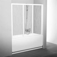 Шторка для ванны Ravak AVDP3-180 белая+транспарент (40VY0102Z1)