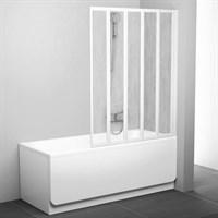 Шторка для ванны Ravak VS5 белая+рейн (794E010041)