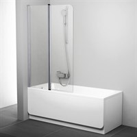 Шторка для ванны Ravak CVS2-100 L (блестящий + транспарент) 7QLA0C00Z1