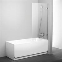 Шторка для ванны Ravak BVS1-80 хром+транспарент (7U840A00Z1)