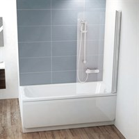 Шторка для ванны Ravak CVS1 80 белая правая (7QR40100Z1)