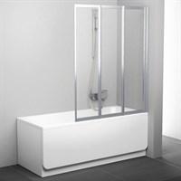 Шторка на ванну Ravak VS3 130 Transparent профиль сатин