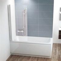 Шторка для ванны Ravak CVS1 80 белая левая (7QL40100Z1)