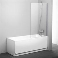 Шторка для ванны Ravak PVS1-80 белый+транспарент (79840100Z1)