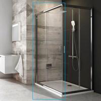 Душевая дверь раздвижная для комбинации с дверью или стенкой Ravak Blix BLRV2K-80 (блестящий+транспа