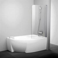Шторка для ванны Ravak CVSK1 Rosa 140/150 Левая блестящая+транспарент (7QLM0C00Y1)