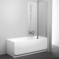 Шторка для ванны Ravak CVS2-100 R (белый + транспарент) 7QRA0100Z1