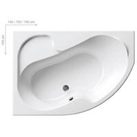 Акриловая ванна Ravak Rosa I 150x105 Левая (CK01000000)