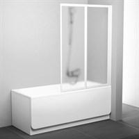 Шторка на ванну Ravak VS2 105 Transparent профиль белый