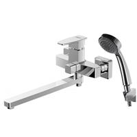 Смеситель для ванны c длинным изливом с аксессуарами Bravat Riffle  (F672106C-LB)
