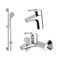 Комплект для ванной комнаты 3 в 1 Bravat Drop-D F00312C