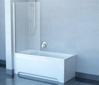 Шторка для ванны Ravak CVSK1 Rosa 160/170 Левая белая+транспарент  (7QLS0100Y1)