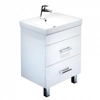 Тумба с умывальником для ванной комнаты напольная белая 55 см Custo IDDIS CUS55W0i95K