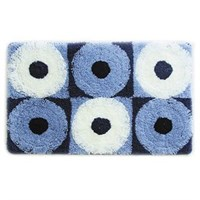 Коврик для ванной комнаты 50*80 см акрил Blue Circles IDDIS 270A580i12