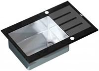 Мойка кухонная Zorg Inox Glass 78х51х20 (арт. GL-7851-BLACK)