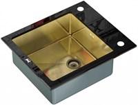 Мойка кухонная Zorg Inox Glass 60х51х20 (арт. GL-6051-BLACK-BRONZE)