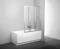 Шторка для ванны Ravak VS3 115 сатин+транспарент (795S0U00Z1)