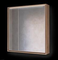 Зеркало-шкаф Frame 75 Дуб трюфель с подсветкой, розеткой