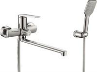 Смеситель для ванны RUSH Bering BE5535-51 с душем длинный излив хром