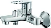 Смеситель для ванны RUSH Edge ED7735-44 с душем короткий излив хром