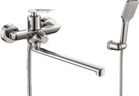 Смеситель для ванны RUSH Palm PL2530-51 с душем длинный излив хром (PL2530-51)
