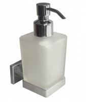 Дозатор для жидкого мыла, матовое стекло, сплав металлов, Labrador, Milardo, LABSMG0M46