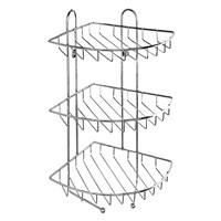 Полка трехъярусная угловая с крючками, проволока стальная, 10, Milardo, 110WC30M44 (110WC30M44)