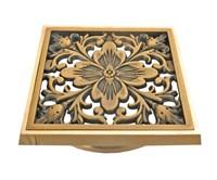 """21975 Решетка """"Цветок"""" для трапа Bronze de Luxe"""