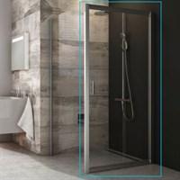 Душевая дверь Ravak раздвижная для комбинации с дверью или стенкой Blix BLRV2K-90 (блестящий+транспа
