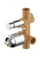 Скрытая часть встраиваемого смесителя Bravat (2-функц) Gina (D9100CP-ENG)
