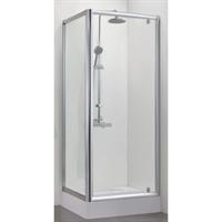 Душевой уголок BRAVAT Drop без поддона одна распашная дверь 900x900x2000 (BS090,2110A)