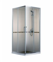 Душевой уголок BRAVAT Line без поддона две раздвижные двери 900x900x2000  (BS090.2202A)