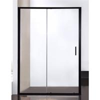 Душевая дверь BRAVAT BLACKLINE в нишу черный профиль 1200х2000  (BD120.4101B)