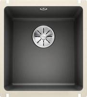 Кухонная мойка Blanco SUBLINE 375-U керамика PuraPlus базальт с отв.арм. InFino (523731)