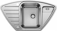 Кухонная мойка Blanco LANTOS 9 E-IF полированная нерж. сталь с клапаном-автоматом (516277)