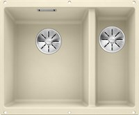 Кухонная мойка Blanco SUBLINE 340/160-U SILGRANIT PuraDur жасмин  (чаша слева) с отв.арм. InFino (523553)