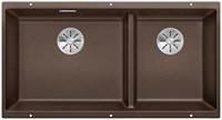 Кухонная мойка Blanco SUBLINE 480/320-U SILGRANIT PuraDur  кофе c отв.арм. InFino (523593)