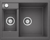 Кухонная мойка Blanco METRA 6 SILGRANIT PuraDur темная скала с клапаном-автоматом (518874)